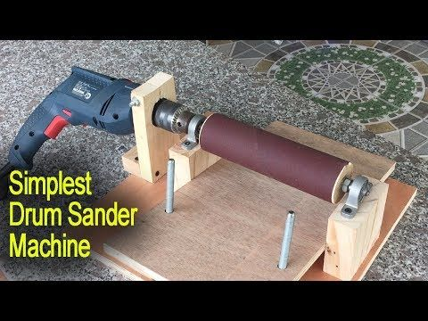 Amazing Simplest Drum Sander Machine DIY - Perfect Woodworking With Tools #homemadetools