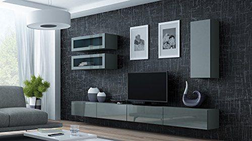 Wohnwand VIGO 11, Anbauwand, Wohnzimmer Möbel, Hochglanz !!! LED