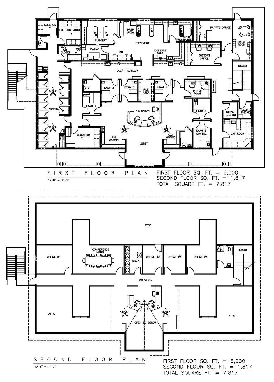 Veterinary floor plan Hilltop Animal Hospital Hospital