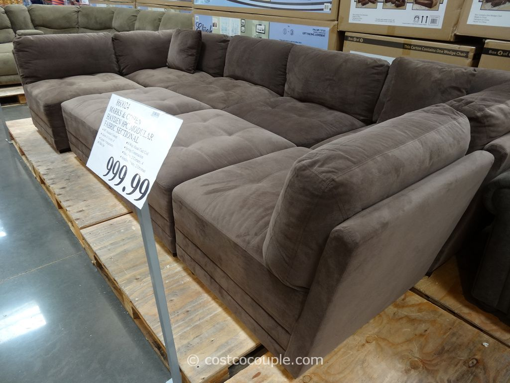 sofa pit couch lovesac knock off marks and cohen hayden 8 piece modular fabric sectional costco for