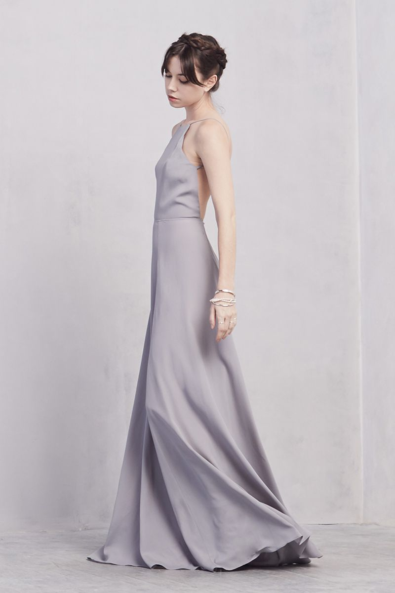 Gray dress for wedding party  Noelle Dress  Products Prom and Formal