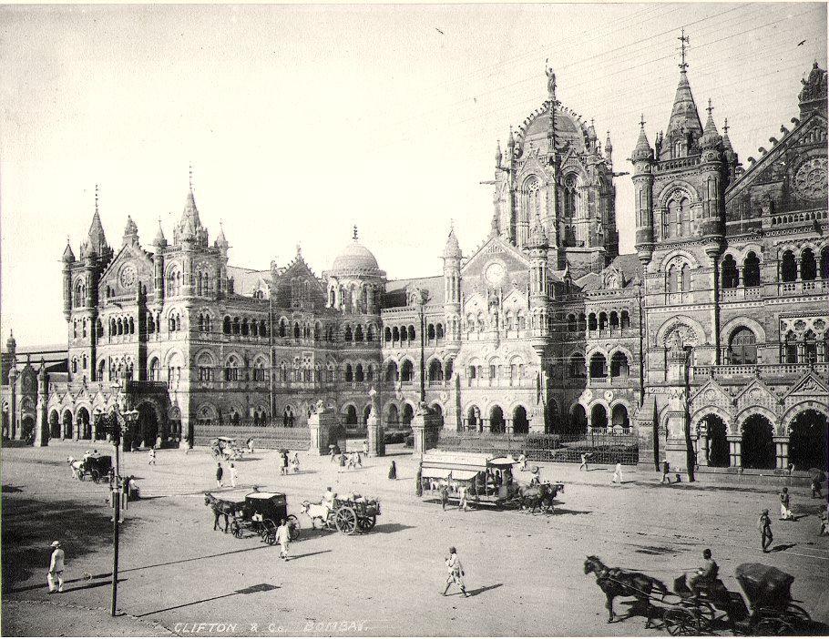 Victoria Terminus Mumbai India 19th Century British Colonial