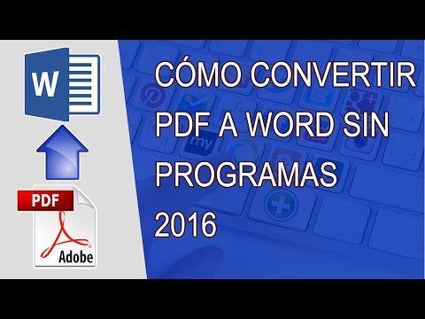 convertir pdf en word 2016