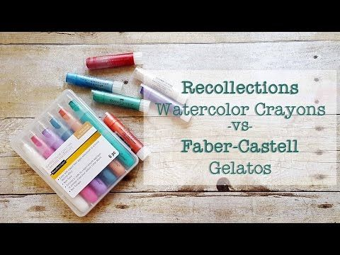 1 Recollections Watercolor Crayons Vs Faber Castell Gelatos