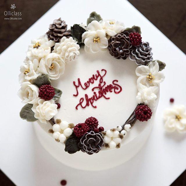 Done by student   #buttercreamcake #buttercreamflowercake #flowercupcake #koreanstylecake #ollicake #olliclass #olligram #pinecone  #blossom #bouquet #wreath #partycake #carrotcake #christmas #christmascake #christmaswreath #버터크림플라워케이크 #플라워케익 #꽃케익 #올리케이크 #올리클래스 #당근케이크  #크리스마스케이크 #크리스마스리스 #케익스타그램 #꽃스타그램 #인덕원 #동편마을 #since2008 #솔방울  www.ollicake.com ollicake@naver.com