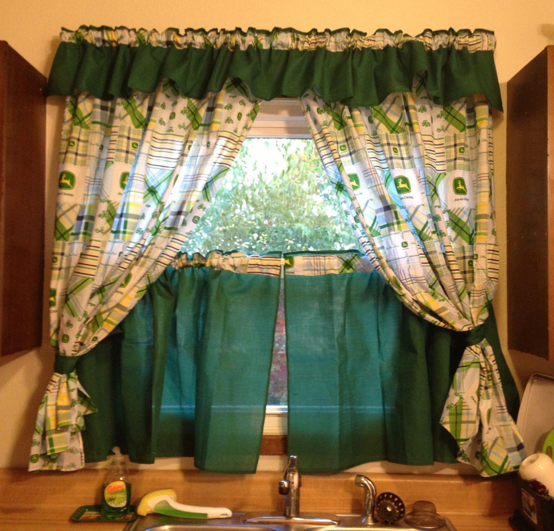 John deere kitchen decor - My New John Deere Kitchen Curtains Love Them D