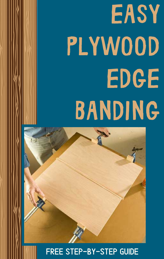 Easily Applying Plywood Edge Banding Plywood Edge Woodworking Hand Tools Carpentry Projects