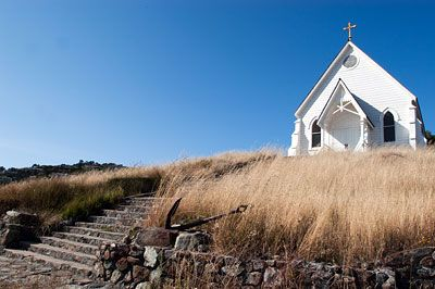 A former Catholic Church, Old Saint Hilary is now run by a historical society preserving the history of important buildings in Tiburon, CA.