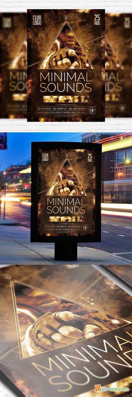 Flyer Template - Minimal Sounds Vol 3 + Facebook Cover
