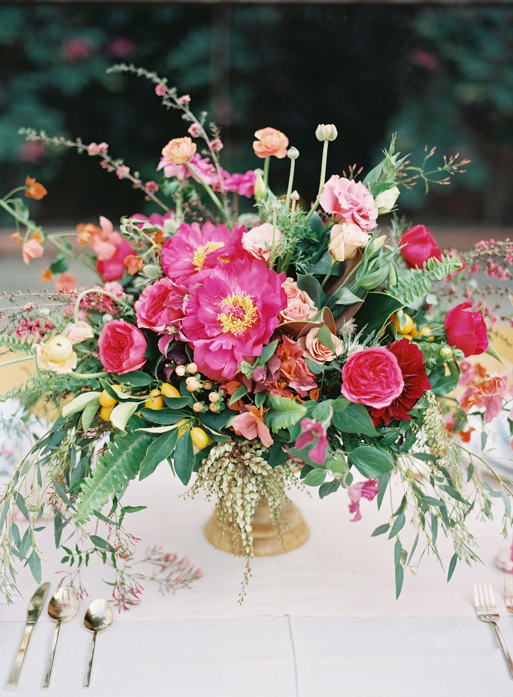 spring inspired wedding day floral arrangement by Hello Gem events
