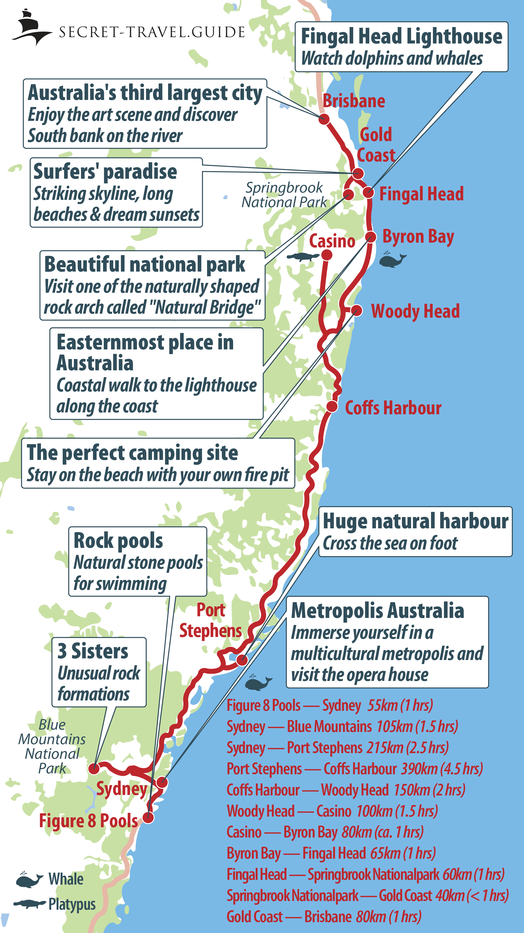 Map East Coast Of Australia.Discover Australia S East Coast From Sydney To Brisbane A