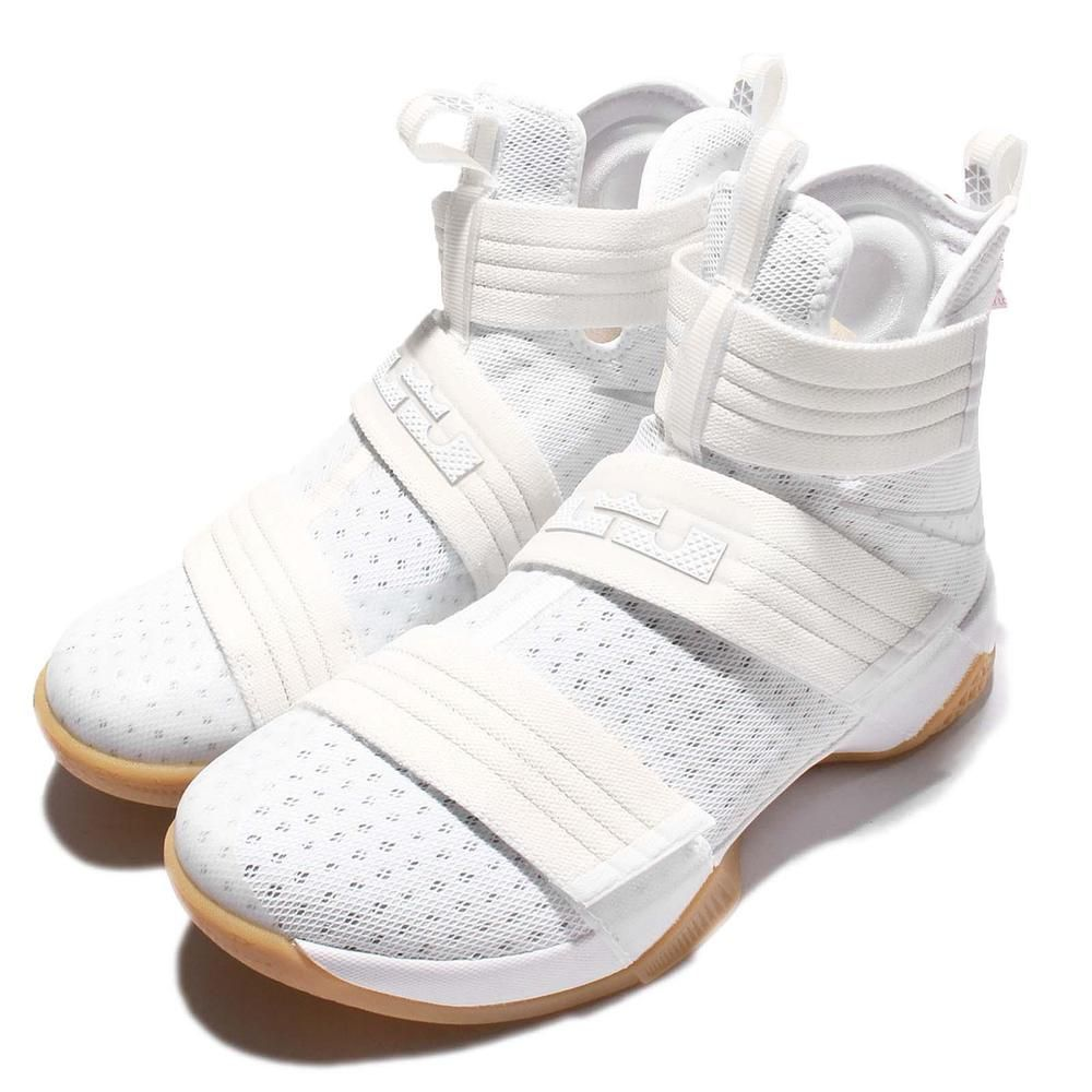 new products 0a505 fdfeb Nike Lebron Soldier 10 SFG EP X James Strive for Greatness White Gum  844379-101  Nike  BasketballShoes