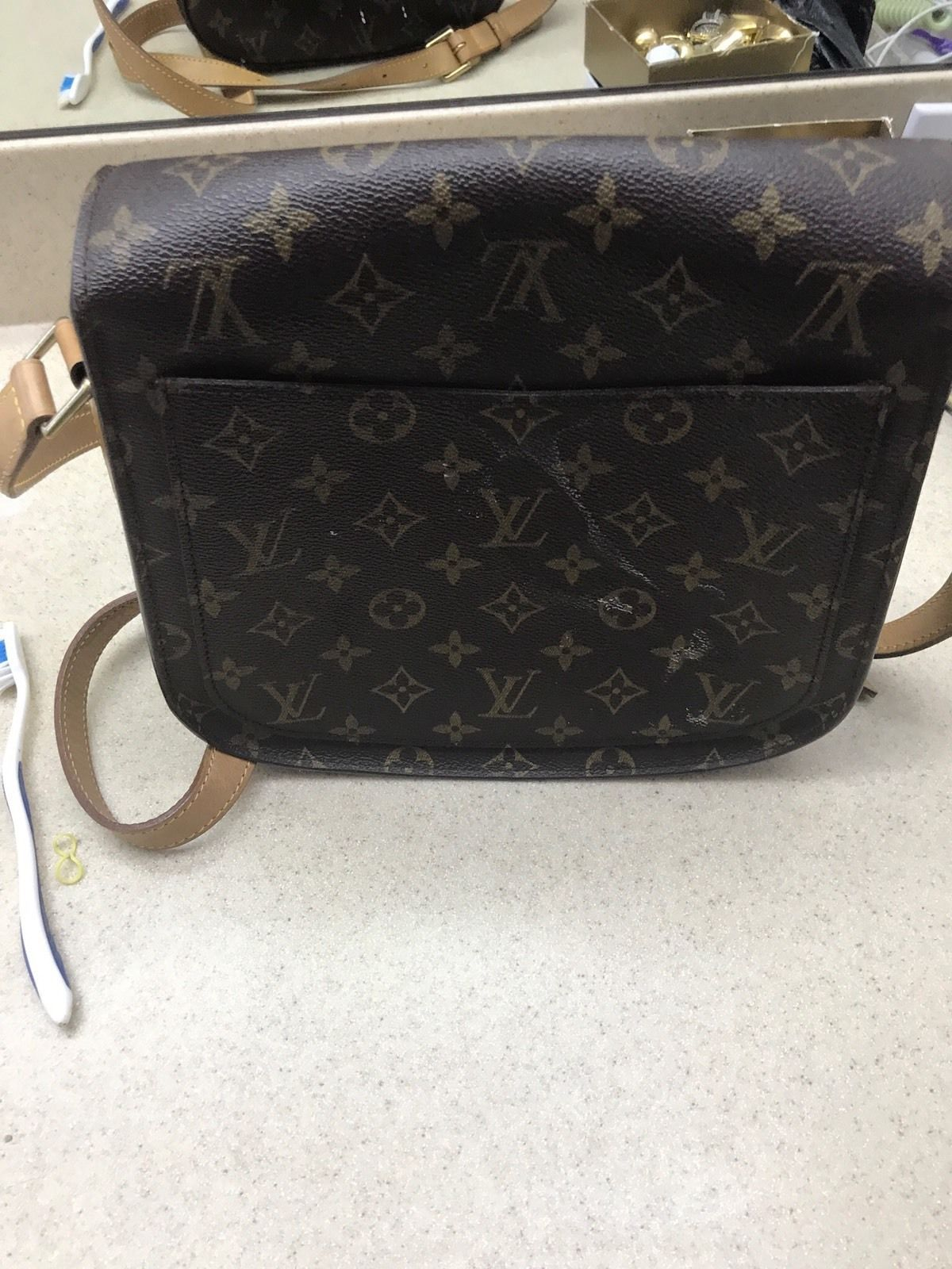 6c92be249d8b Used Louis Vuitton Brown Coated Canvas Monogram