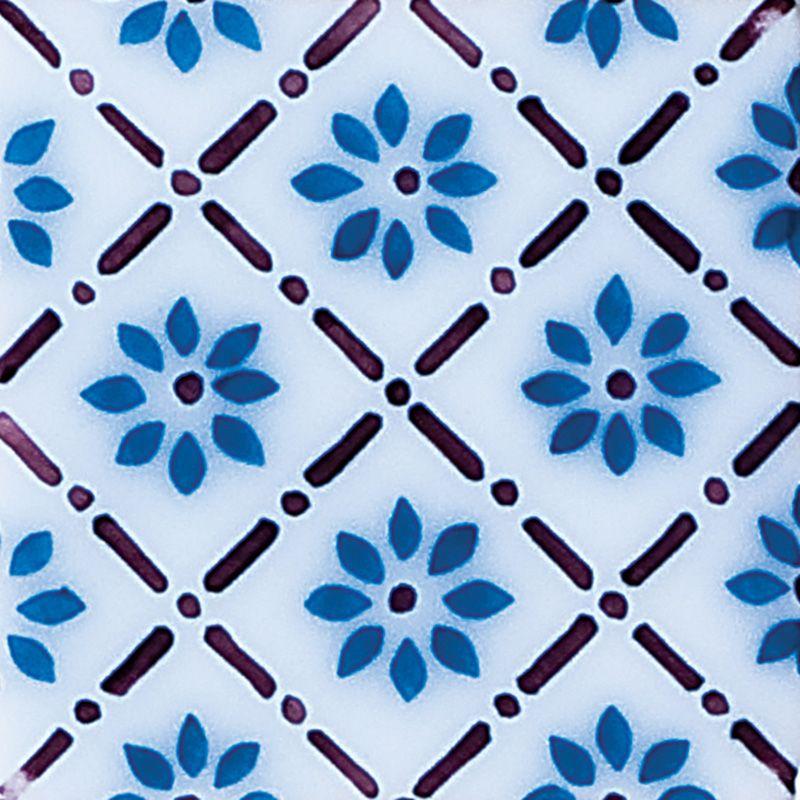Giverny Deco 1 Glazed Ceramic Tiles 4x4 Country Floors Of America Llc Glazed Ceramic Ceramic Tiles Glazed Ceramic Tile