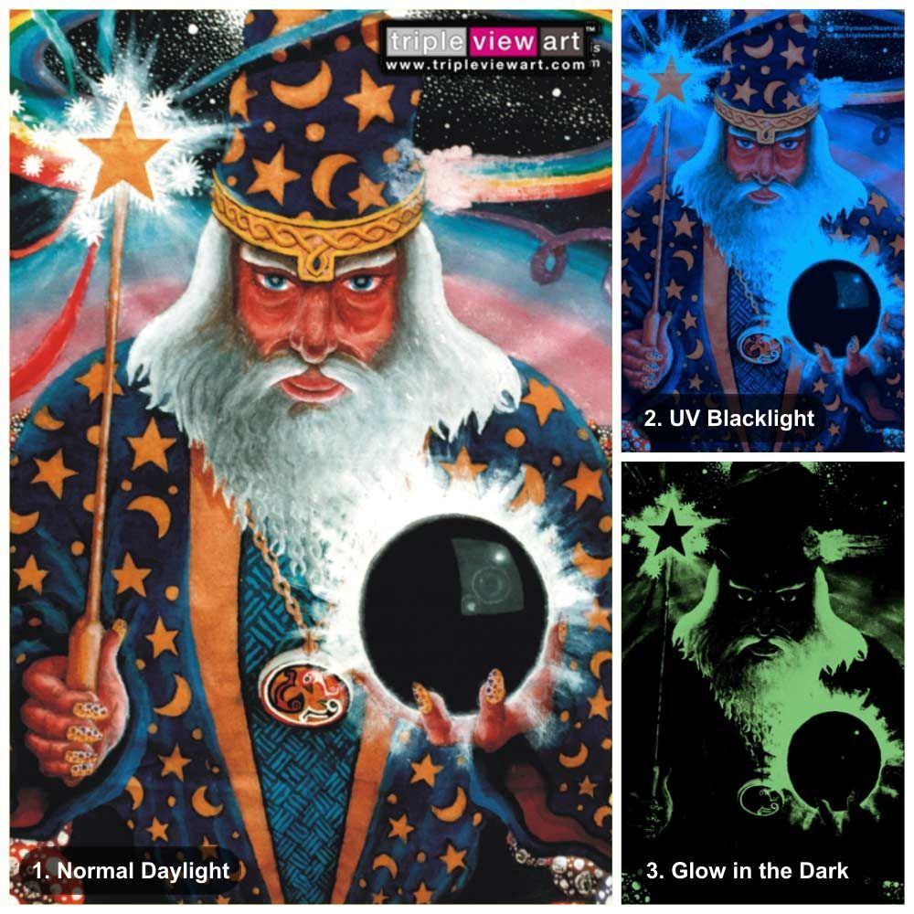 """Merlin"" UV-Blacklight Fluorescent & Glow-In-The-Dark"