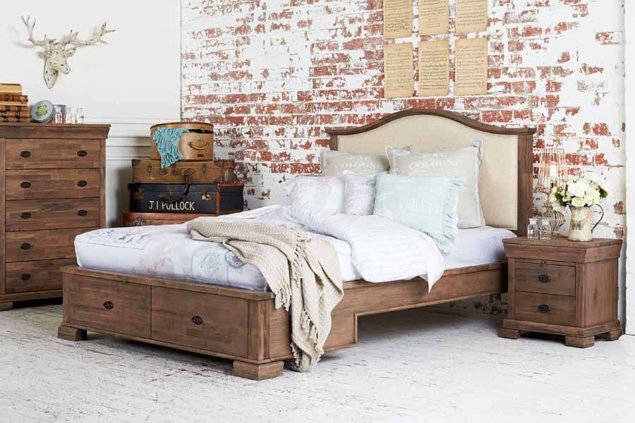Woodbury+King+Size+Timber+Bed | New House | Pinterest | Tv beds ...