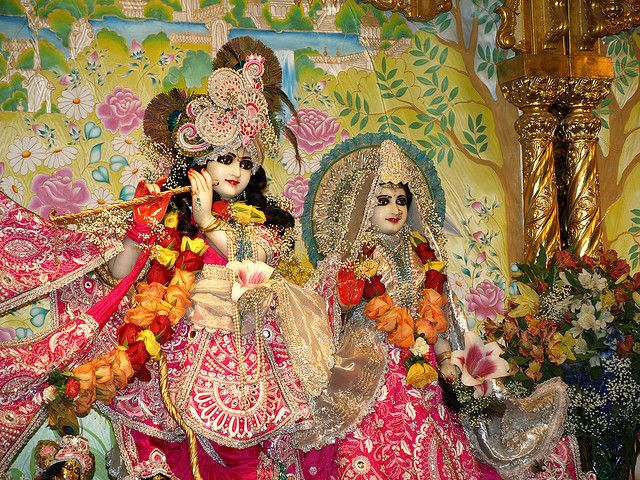 Krishna and Radha at the New Vrindaban in West Virginia. I'd like to pilgrim to this tirtha someday!