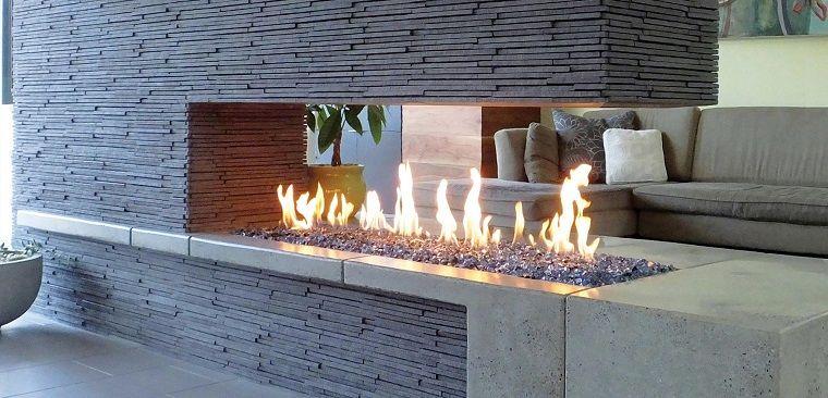 Tipos de chimeneas perfectas para un hogar acogedor Salón, Moderno