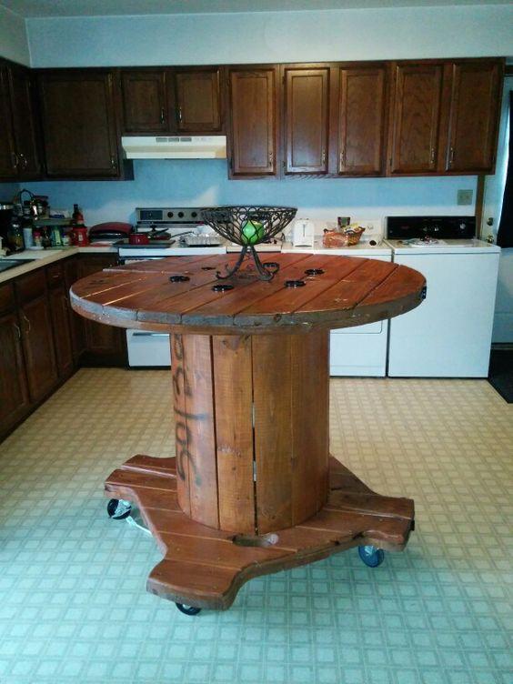 la vieille bobine de c ble lectrique devient d co 20 id es sublimes projets essayer. Black Bedroom Furniture Sets. Home Design Ideas