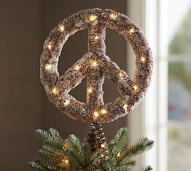 Peace Christmas Tree Topper.Lit Outdoor Peace Sign Tree Topper Need To Make For The