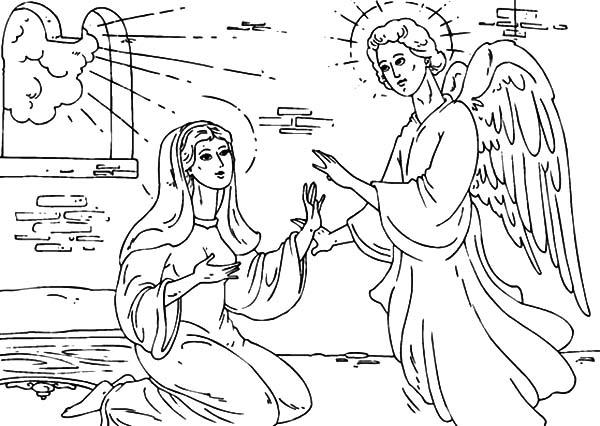 Pin De Ramo Na Em Angel Appears To Mary Coloring Pages Desenhos Biblicos Para Imprimir Desenhos Biblicos Anjos