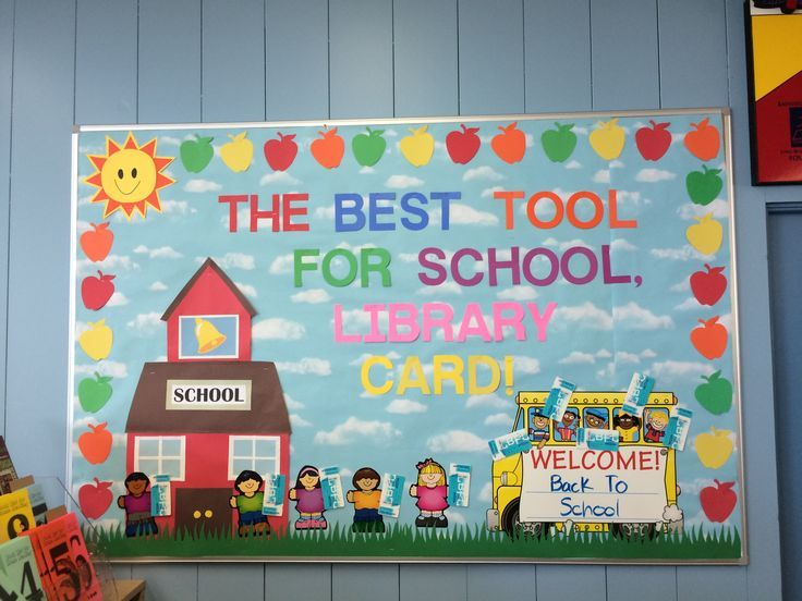 Back To School Library Bulletin Board Window Displays
