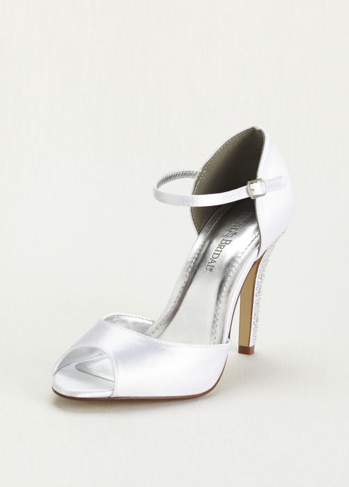 2bd15b68f Dyeable Sandal with Crystal Embellished Heel Style GIULIANAWHITE Dyeable Wedding  Shoes
