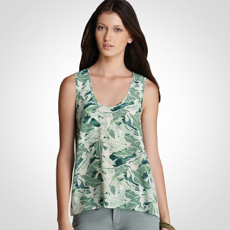 Joie Gaelle Palm Print Top in Pale Aqua  WAS $148 - NOW $44  Find Joie clothing in Beverly Hills at Jami Lyn on Robertson.