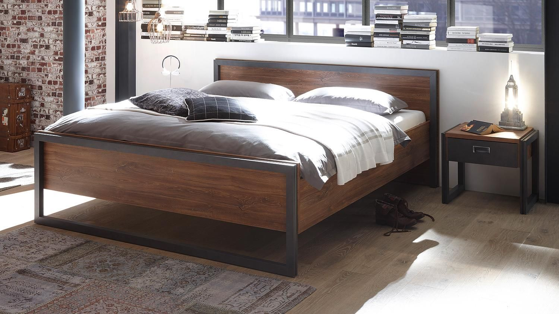 Bemerkenswert Bettgestell 180x200 Beste Wahl Bett Detroit In Stirling Oak Und Matera