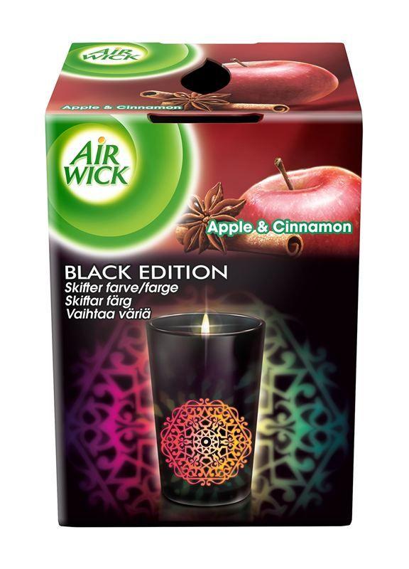 AirWick, väriä vaihtava kynttilä, hinta n. 4-6€ (ei tarvitse olla Black Edition, eli valkoisella kupilla olevat - tai muutkin käyvät)