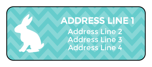 Add A Pop Of Color To Your Mail This Easter With Help From This Free Printable Address Label Design Featur Address Labels Address Label Template Custom Labels