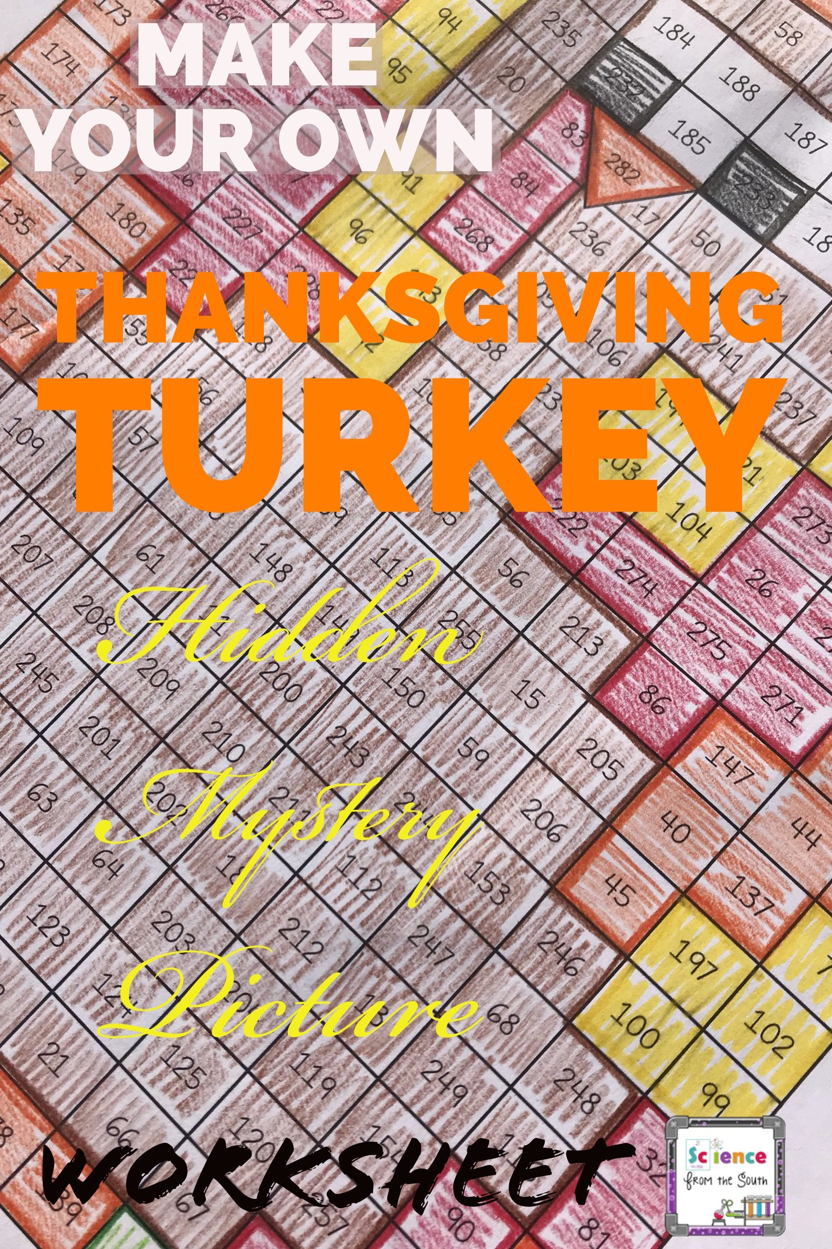 Make Your Own Thanksgiving Turkey Hidden Mystery Picture