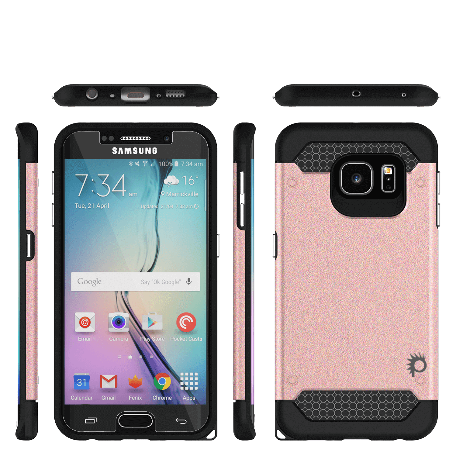 samsung galaxy s6 edge plus case rose gold