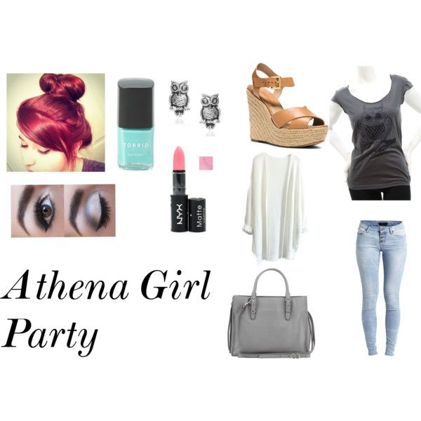 Athena Girl- Party by apollogirl68 on Polyvore featuring Object Collectors Item, Michael Kors, Balenciaga, Tressa, NYX and Torrid