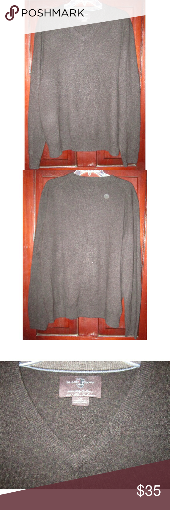 Black Brown 1826 Men's L Pullover Cashmere Sweater Very nicely ...