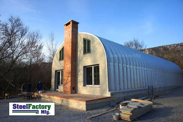 Metal Buildings As Homes Series Arch Buildings Straight Wall