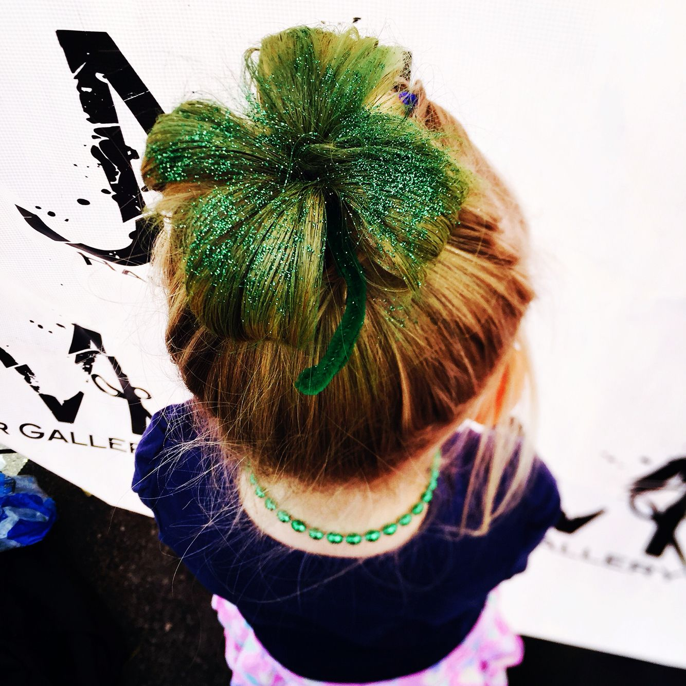 St Patrick S Day Hair Shamrock Hair Style Shamrock Hair Hair Styles Crazy Hair