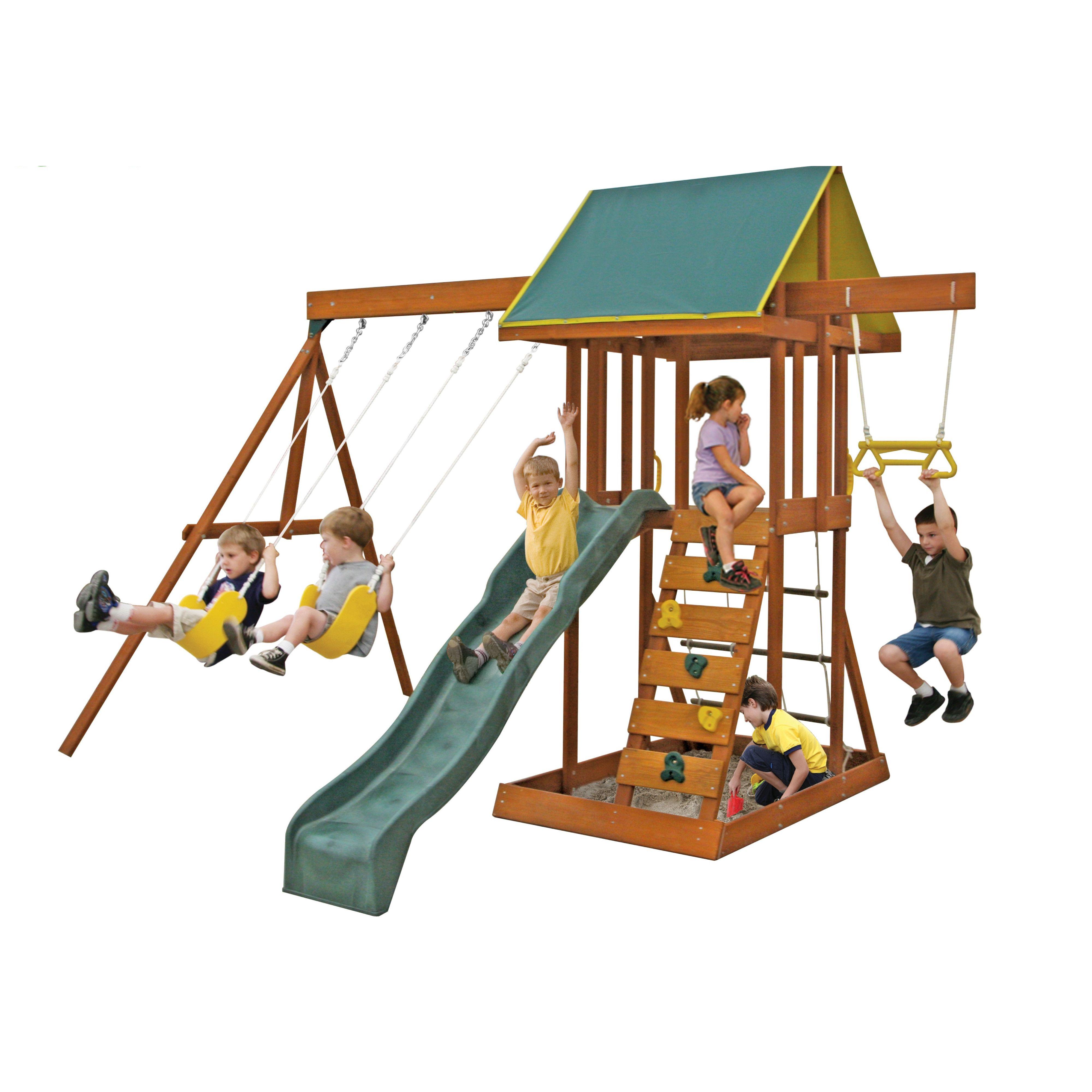 viv rae scout meadowvale wooden swing set davia pinterest