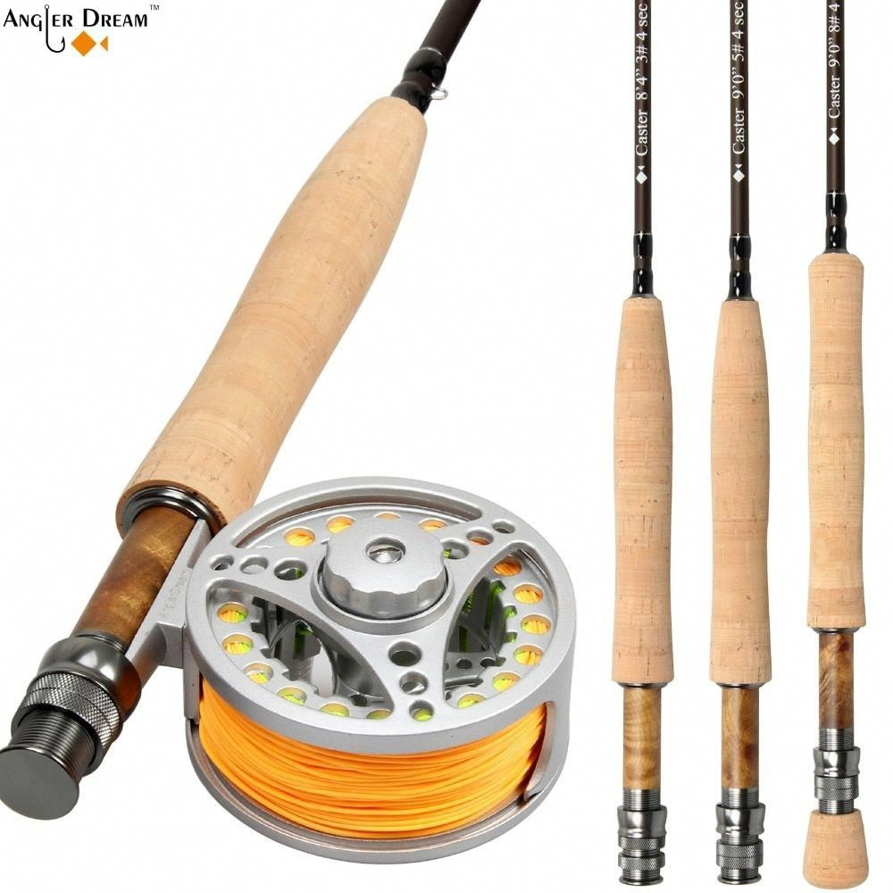 Fly Rod Combo 8 3 9ft Carbon Fiber Fly Fishing Rod 3 4 5 6 7 8wt Aluminum Fly Fishing Reel And Line Price 100 1 Fly Fishing Rods Fishing Rods Reels Fly Rods