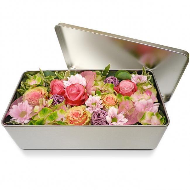 Bouquets sp cial f te des m res par boite for Bouquet de fleurs dans une boite