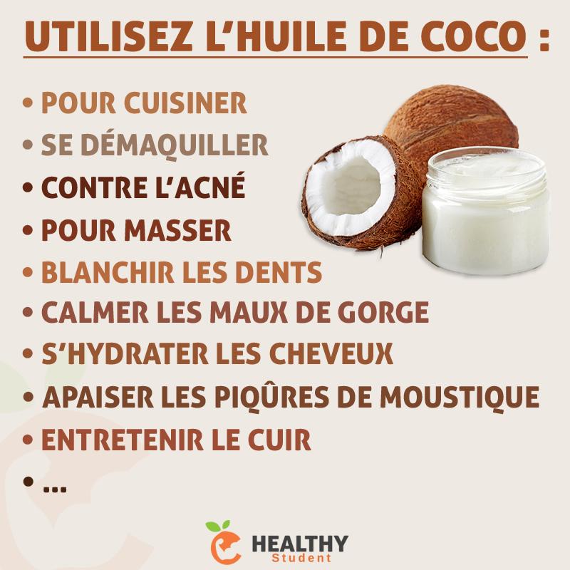 bienfait huile de noix de coco