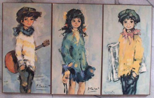 Raritat 3er Wandbild M Dupont Frohe Jugend 60er Jahre Jugendliche Bilder Kunst