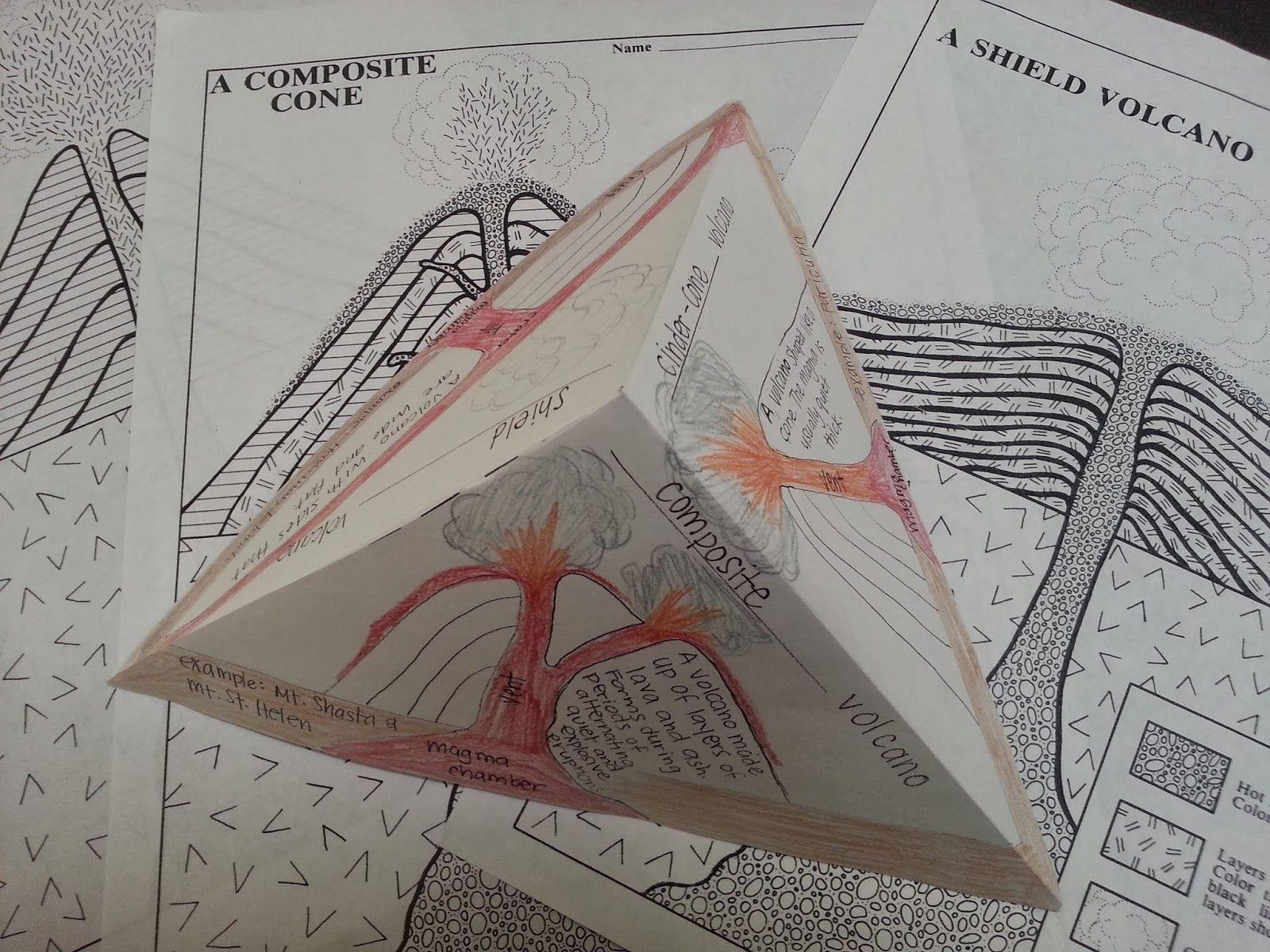 Volcanoes Foldable | Pop Fizz Elementary - Also, free through TPT ...