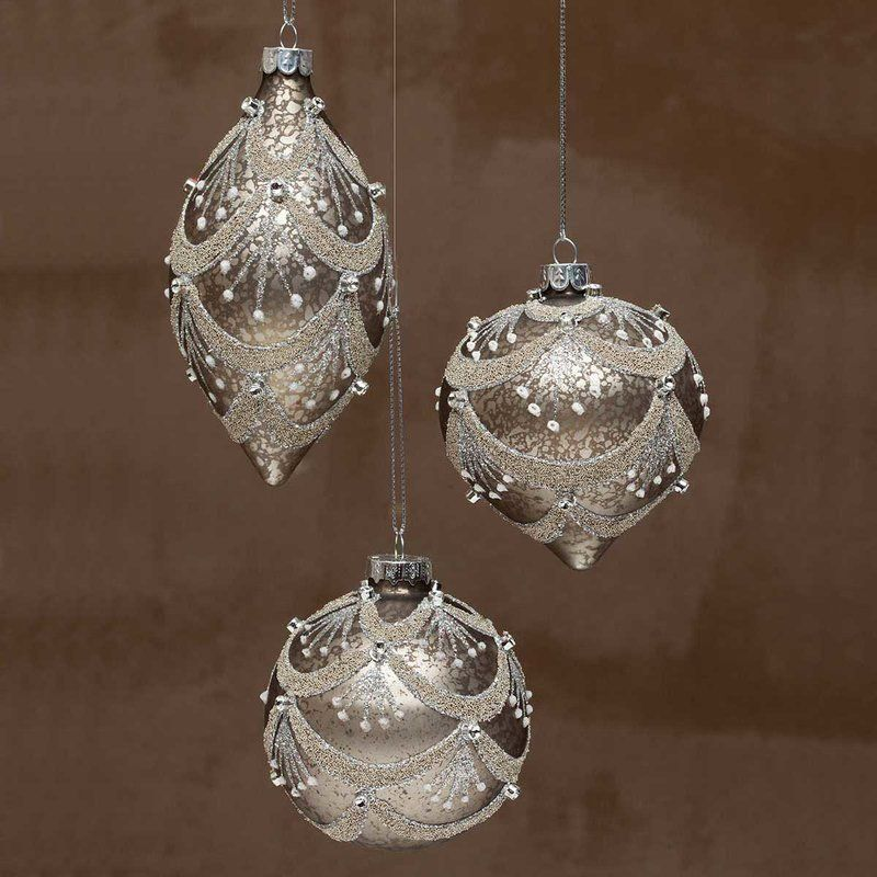 Champagne Glass Chandelier Ball Ornament   Ball ornaments ...