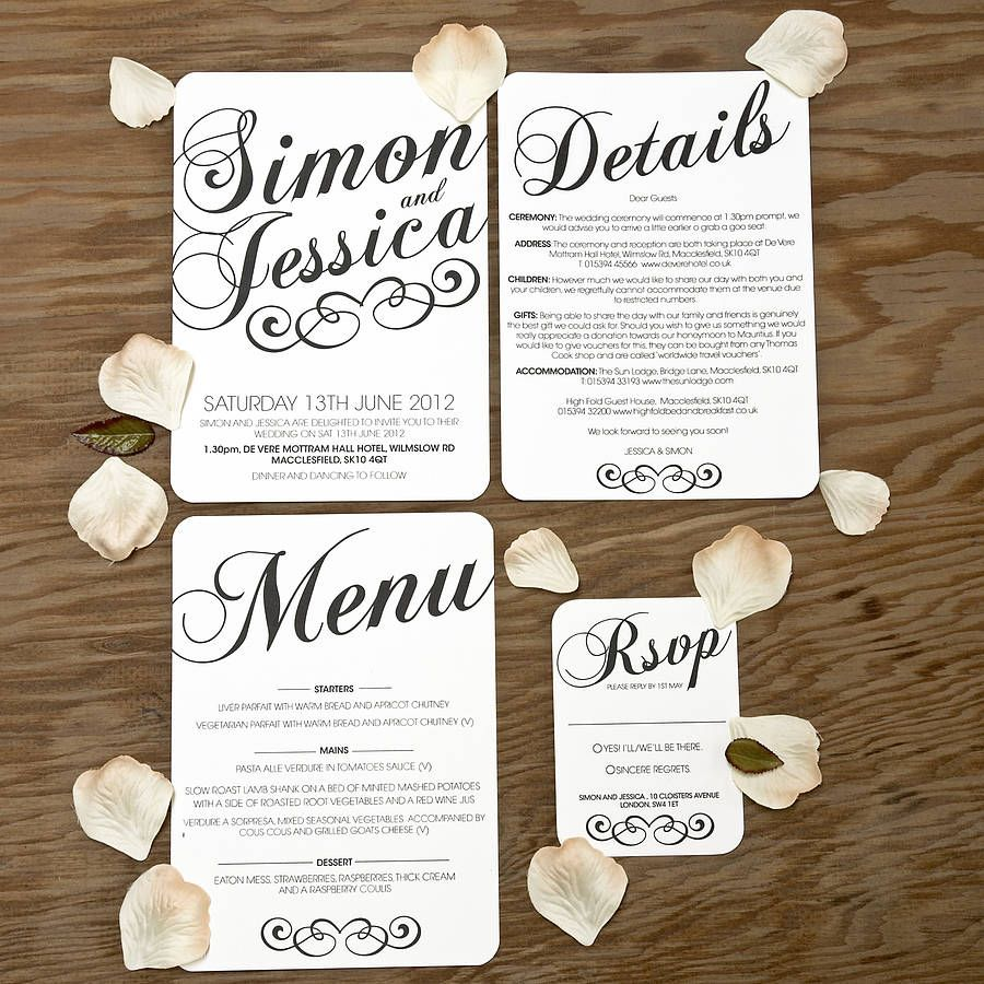 Vintage Style Wedding Stationery Set | Wedding stationery sets ...