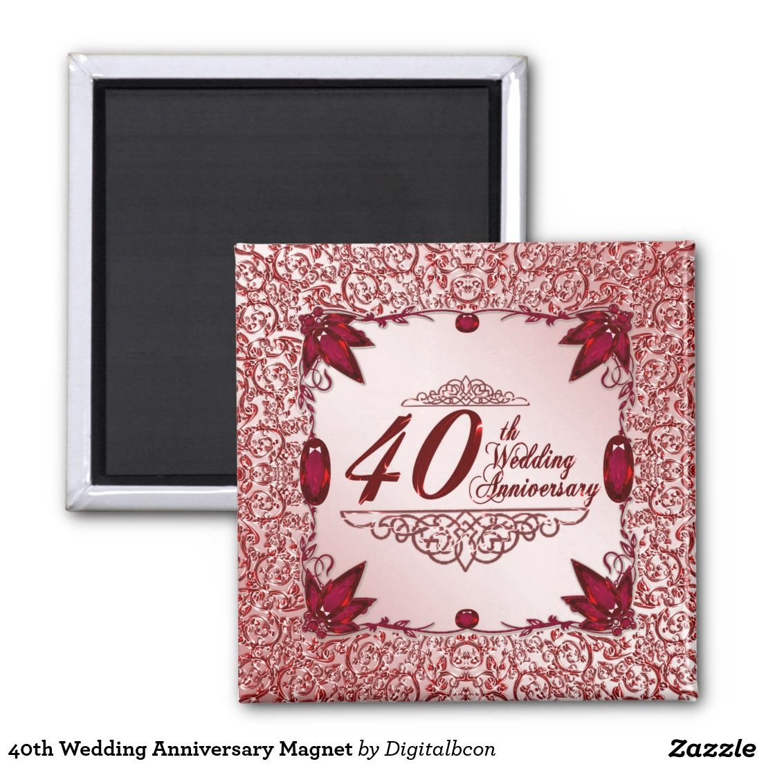 40th Wedding Anniversary Magnet | 40th wedding anniversary and ...