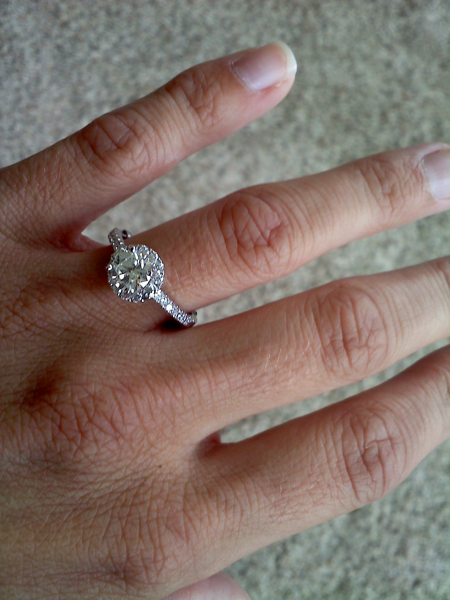 Engaged my ringand my wrinkly fingers rings