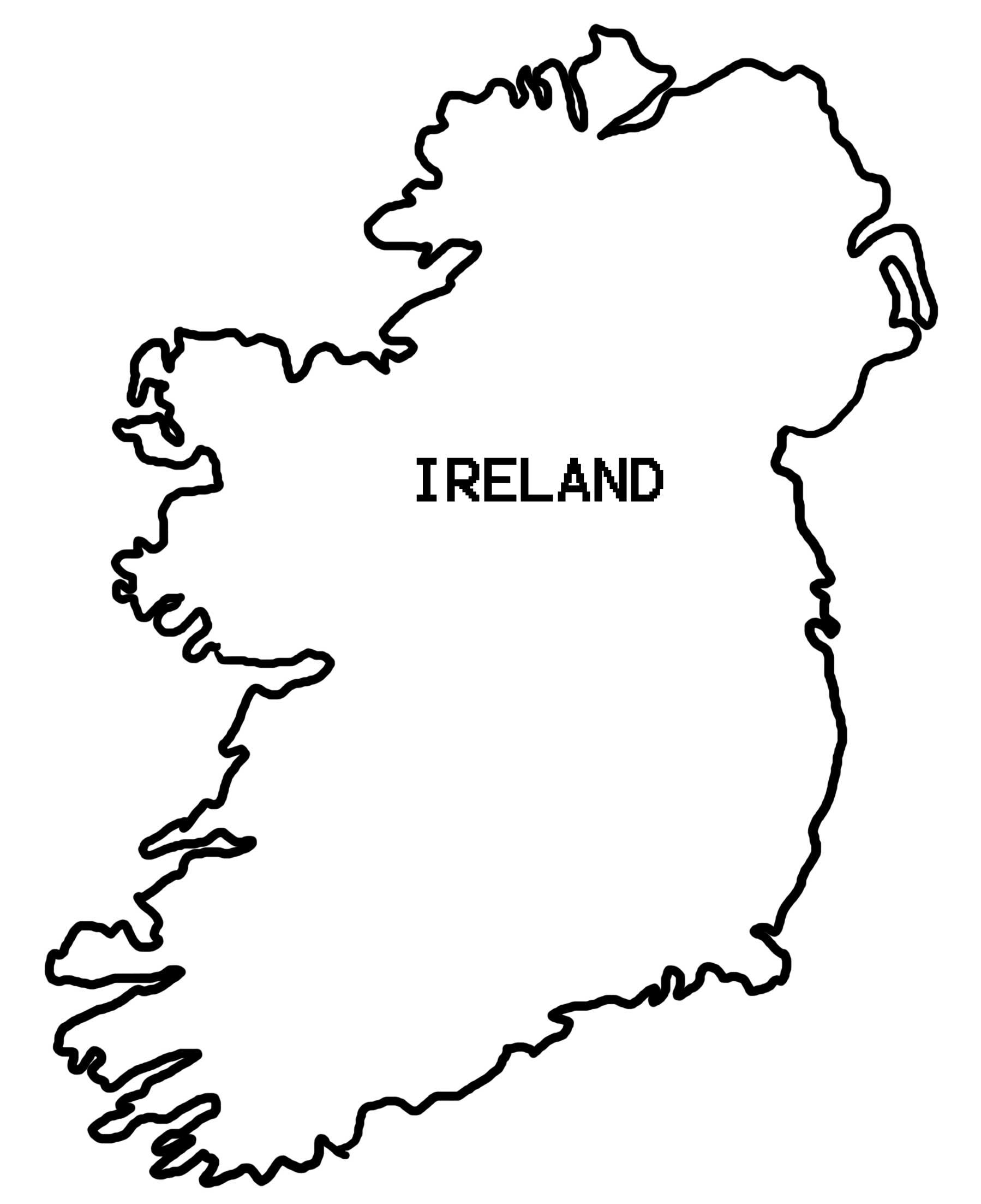 Simple Map Of Ireland Clipart Best Flag Coloring Pages Fall