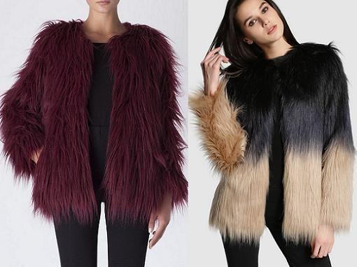 Chaquetas y abrigos de pelo sintetico