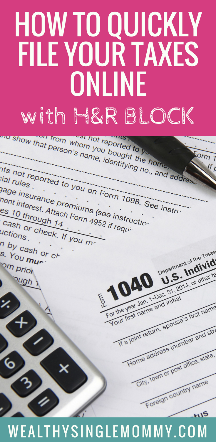 How To File Taxes Online With H R Block Online Taxes Irs
